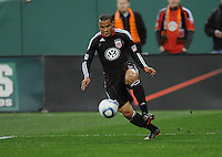 DC United forward Charlie Davies (9) celebrates his second goal of the game.  DC United defeated The Columbus Crew 3-1  at the home season opener, at RFK Stadium, Saturday March 19, 2011.
