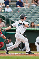 May 1 2010: Jeremy Synan (33) of the Jupiter Hammerheads  during a game vs. the Palm Beach Cardinals at Roger Dean Stadium in Jupiter, Florida. Palm Beach, the Florida State League High-A affiliate of the St. Louis Cardnials, won the game against Jupiter, affiliate of the Florida Marlins, by the score of 5-4  Photo By Scott Jontes/Four Seam Images