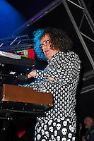 BLACKPOOL, ENGLAND - AUGUST 6: Monty Oxymoron of 'The Damned' performing at Rebellion Festival, Tower St Arena on August 6, 2016 in Blackpool, England.<br /> CAP/MAR<br /> &copy;MAR/Capital Pictures /MediaPunch ***NORTH AND SOUTH AMERICAS ONLY***