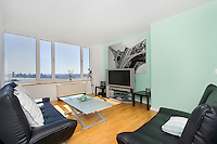 Living Room at 635 West 42nd Street