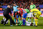 Atletico de Madrid's player Koke Resurrección and Kevin Gameiro and PSV Eindhoven's player Jetro Willems, Nicolas Isimat-Mirin and Jeroen Zoet during a match of La Liga at Santiago Bernabeu Stadium in Madrid. November 06, Spain. 2016. (ALTERPHOTOS/BorjaB.Hojas)