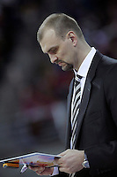 Caja Laboral Baskonia's coach Zan Tabak during Spanish Basketball King's Cup semifinal match.February 07,2013. (ALTERPHOTOS/Acero)