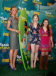 UNIVERSAL CITY, CA. - August 09: Actresses Cameron Diaz, Sofia Vassilieva and Abigail Breslin  pose in the press room during the Teen Choice Awards 2009 held at the Gibson Amphitheatre on August 9, 2009 in Universal City, California.