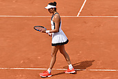 4th June 2017, Roland Garros, Paris, France; French Open tennis championships;  Garbine Muguruza during her loss to Kristina Mladenovic (FRA)