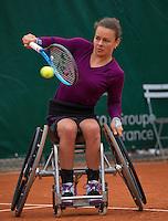 Paris, France, 01 June, 2016, Tennis, Roland Garros, Womans Wheelchair tennis, Marjolein Buis (NED)<br /> Photo: Henk Koster/tennisimages.com