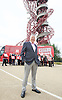 Labour IN campaign bus visits the Queen Elizabeth Olympic Park Stratford, London with Alan Johnson MP chair of the Labour in for Britain campaign to set out what impact leaving the European Union would have on the UK tourism sector.<br />  <br /> 29th May 2016 <br /> <br /> Alan Johnson <br /> <br /> <br /> Photograph by Elliott Franks <br /> Image licensed to Elliott Franks Photography Services