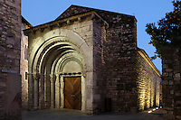 Portal of the ancient Hospital San Julia, 12th century, Besalu, Girona, Spain. Picture by Manuel Cohen.