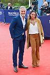 David Ginola and wife Coraline attend the 'Life' Premiere during the 41st Deauville American Film Festival on September 5, 2015 in Deauville, France