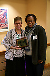 Faculty pose with Julie Suhr, who was recognized for her efforts as a faculty mentor.