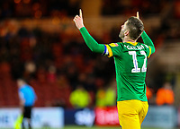 Preston North End's Paul Gallagher celebrates scoring his side's first goal <br /> <br /> Photographer Alex Dodd/CameraSport<br /> <br /> The EFL Sky Bet Championship - Middlesbrough v Preston North End - Wednesday 13th March 2019 - Riverside Stadium - Middlesbrough<br /> <br /> World Copyright &copy; 2019 CameraSport. All rights reserved. 43 Linden Ave. Countesthorpe. Leicester. England. LE8 5PG - Tel: +44 (0) 116 277 4147 - admin@camerasport.com - www.camerasport.com