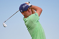 Justin Thomas (USA) watches his tee shot on 13 during Friday's round 2 of the 117th U.S. Open, at Erin Hills, Erin, Wisconsin. 6/16/2017.<br /> Picture: Golffile   Ken Murray<br /> <br /> <br /> All photo usage must carry mandatory copyright credit (&copy; Golffile   Ken Murray)