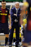 FC Barcelona Alusport's coach Marc Carmona during Spanish National Futsal League match.November 24,2012. (ALTERPHOTOS/Acero) /NortePhoto