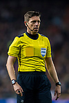 Referee Gianluca Rocchi reacts during the UEFA Champions League 2017-18 Round of 16 (1st leg) match between Real Madrid vs Paris Saint Germain at Estadio Santiago Bernabeu on February 14 2018 in Madrid, Spain. Photo by Diego Souto / Power Sport Images