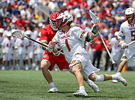 Annapolis, MD - May 20, 2018: Maryland Terrapins Connor Kelly (1) in action during the quarterfinal game between Maryland vs Cornell at  Navy-Marine Corps Memorial Stadium in Annapolis, MD.   (Photo by Elliott Brown/Media Images International)
