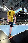 GER - Mannheim, Germany, September 23: During the DKB Handball Bundesliga match between Rhein-Neckar Loewen (yellow) and TVB 1898 Stuttgart (white) on September 23, 2015 at SAP Arena in Mannheim, Germany. Final score 31-20 (19-8) . (Photo by Dirk Markgraf / www.265-images.com) *** Local caption *** Stefan Rafn Sigurmannsson #11 of Rhein-Neckar Loewen