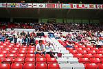 Sunderland fans watch anxiously. Sunderland 2 Portsmouth 1, 17/08/2019. Stadium of Light, League One. Photo by Paul Thompson.