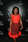 "Orange Is The New Black Actress  ""Crazy Eyes"" Uzo Aduba After the MBFW Spring 2015 NY Vivienne Tam at Lincoln Center, Golden Globe Awards 2015, red"