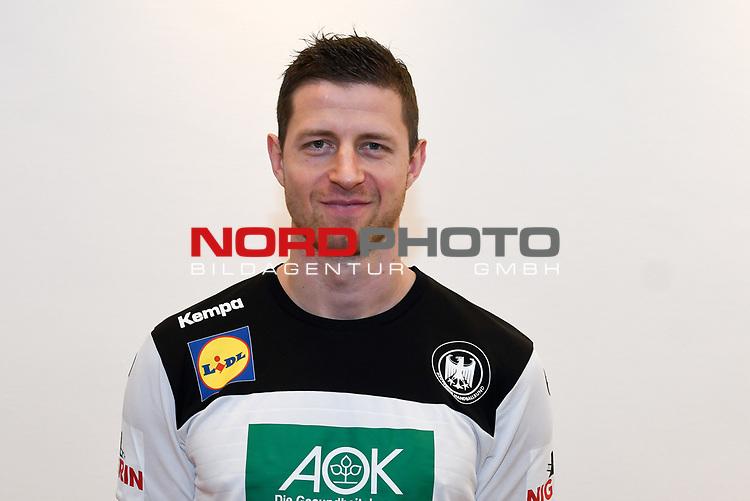 03.01.2019,  GER; Handball, IHF Handball-WM 2019 in Deutschland und Daenemark, Nationalmannschaft Deutschland. Fototermin, im Bild Martin Strobel (GER #19) Foto © nordphoto / Witke