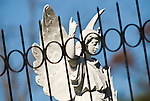 Thomas Wolfe's angel within the Hendersonville, North Carolina, cemetery.