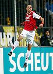 Nederland, Venlo, 25 januari 2013.Eredivisie.Seizoen 2012-2013.VVV Venlo-AZ.Adam Maher van AZ juicht en balt een vuist nadat hij de 0-1 heeft gescoord.