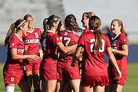BERKELEY, CA - October 4, 2016: Stanford Cardinal Women's Soccer team vs. Cal Bears at Goldman Field. Final score, Cal Bears 1, Stanford Cardinal 4.