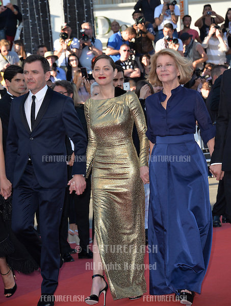 Director Nicole Garcia &amp; actors Alex Brendemuhl &amp; Marion Cotillard at the gala premiere of &quot;From the Land of the Moon&quot; (&quot;Mal de Pierres&quot;) at the 69th Festival de Cannes.<br /> May 15, 2016  Cannes, France<br /> Picture: Paul Smith / Featureflash