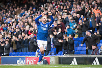 Alan Judge of Ipswich Town celebrates the third goal for the hosts during Ipswich Town vs Accrington Stanley, Sky Bet EFL League 1 Football at Portman Road on 11th January 2020