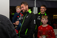 Pictured: Kristoffer Nordfeldt of Swansea City during the Swansea City Christmas part at the Liberty Stadium in Swansea, Wales, UK. Thursday 05 December 2019