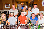 Calvin Nash from Limerick, Holidaying in Ballyheigue for the summer, celebrating his 18th birthday with friends and family on Saturday night in Darcy's.Front l-r Hope Mulcahey,Jordan Nash, Calvin Nash, Maura Maher and Rose Nash.Back l-r Johnny Nash, Catriona Nash, Brandon Nash and Jason Nash