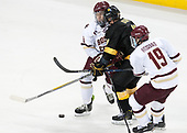 Jesper Mattila (BC - 8), Tanner Ockey (CC - 10), Ryan Fitzgerald (BC - 19) - The Boston College Eagles defeated the visiting Colorado College Tigers 4-1 on Friday, October 21, 2016, at Kelley Rink in Conte Forum in Chestnut Hill, Massachusetts.The Boston College Eagles defeated the visiting Colorado College Tiger 4-1 on Friday, October 21, 2016, at Kelley Rink in Conte Forum in Chestnut Hill, Massachusett.