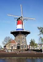 Nederland Leiden 2018. Molen de Valk. De Valk is een stellingmolen en tegewoordig een museum. Foto Berlinda van Dam / Hollandse Hoogte