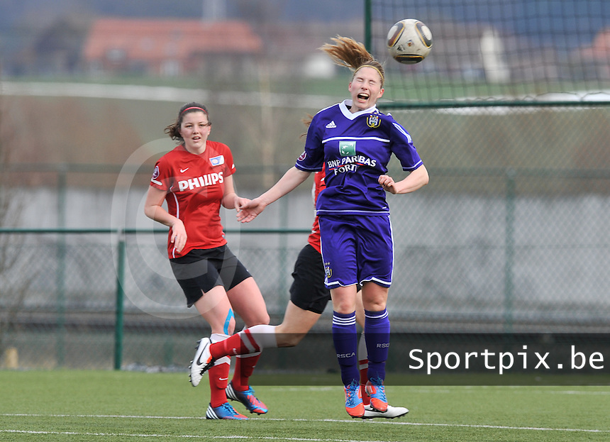 RSC Anderlecht Dames - PSV / FC Eindhoven : Jana Coryn.foto David Catry / Vrouwenteam.be