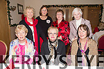 Mary Sugrue, Joanna Prendergast, Teresa O'Leary, Back L to R Stella Boyle, Breda O'Dowd, Ann Day, Honor O'Connor  at the Dominican Church Christmas Mass and Party at Kerins O'Rahilly's Clubhouse on Sunday