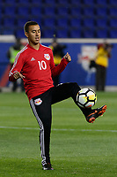 "Harrison, NJ - Thursday March 01, 2018: Alejandro Romero Gamarra ""Kaku"". The New York Red Bulls defeated C.D. Olimpia 2-0 (3-1 on aggregate) during a 2018 CONCACAF Champions League Round of 16 match at Red Bull Arena."