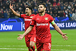 06.11.2019, BayArena, Leverkusen, GER, CL, Bayer 04 Leverkusen vs Atletico Madrid, UEFA regulations prohibit any use of photographs as image sequences and/or quasi-video <br /> <br /> im Bild Kevin Volland (#31, Bayer 04 Leverkusen) jubelt nach seinem Tor zum 2:0  <br /> <br /> Foto © nordphoto/Mauelshagen