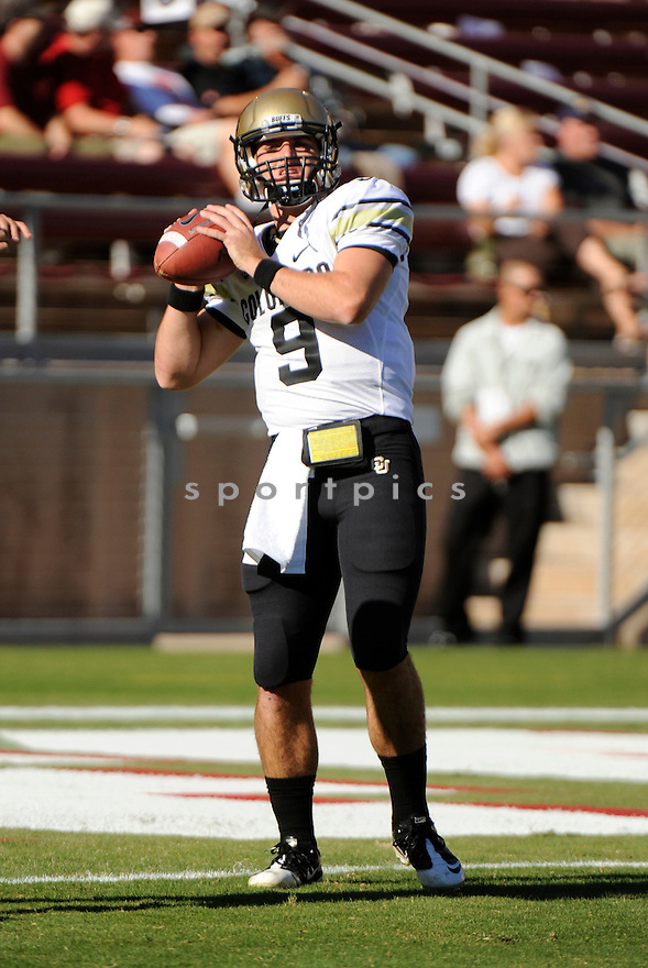TYLER HANSEN, of the Colorado Buffaloes, in action during Colorado's game against the Stanford Cardinal on October 8, 2011 at Stanford Stadium in Stanford, CA. Stanford beat Colorado 48-7.