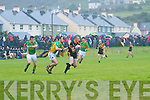 Kieran Donaghy for Stacks & South Kerry's Kevin O'Dwyer battle it out in front of the South Kerry Goal.