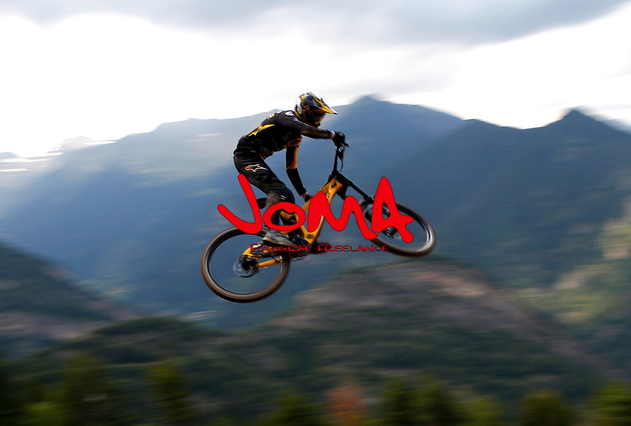 Downhill training sesion, UCI, Moutain Bike World Cup , Vallnord Andorra. 12/07/2018