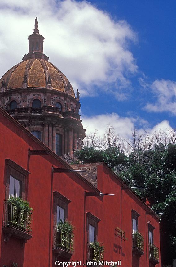 Apartments in a restored Spanish colonial building in San Miguel de Allende, Mexico