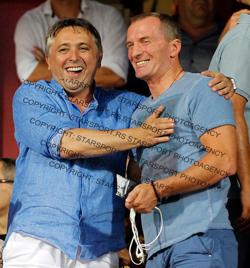 Zoran Popovic Rajo Bozovic Superliga Super Liga Srbije Fudbal Vojvodina -   Partizan 13.8.2015.<br /> 13. Avgust 2015. (credit image &amp; photo: Pedja Milosavljevic / STARSPORT)