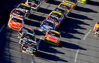 Nov. 1, 2009; Talladega, AL, USA; NASCAR Sprint Cup Series driver David Stremme (12) leads the field during the Amp Energy 500 at the Talladega Superspeedway. Mandatory Credit: Mark J. Rebilas-