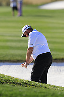 Shane Lowry (IRL) in a fairway bunker on the 5th hole during Saturday's Round 3 of the Waste Management Phoenix Open 2018 held on the TPC Scottsdale Stadium Course, Scottsdale, Arizona, USA. 3rd February 2018.<br /> Picture: Eoin Clarke | Golffile<br /> <br /> <br /> All photos usage must carry mandatory copyright credit (&copy; Golffile | Eoin Clarke)
