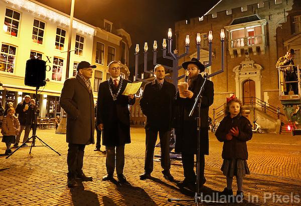 Nederland Haarlem 2016. Chanoeka viering op de Grote Markt in Haarlem. Foto Berlinda van Dam / Hollandse Hoogte
