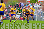 Paul Murphy, Kerry in action against Sean Collins, Clare in the Munster Senior Championship Semi Final in Cusack Park, Ennis on Sunday.