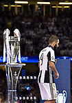 Gonzalo HiguaÌn of Juventus is dejected and walk by the Champions League Trophy during the UEFA Champions League Final match between Real Madrid and Juventus at the National Stadium of Wales, Cardiff, Wales on 3 June 2017. Photo by Giuseppe Maffia.<br /> <br /> Giuseppe Maffia/UK Sports Pics Ltd/Alterphotos