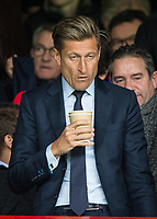 A deflated looking Crystal Palace Chairman Steve Parish during the Premier League match between Crystal Palace and Manchester City at Selhurst Park, London, England on 31 December 2017. Photo by Andy Rowland.
