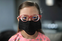 HERMOSILLO, MEXICO - MAY 08: portrait of Abril Maribel daughter of the professional player Oscar Rai Villa of Cimarrones De Sonora while they remain at home every day amid the Coronavirus pandemic <br />  on May 8, 2020 in Hermosillo, Mexico. Due to the Coronavirus crisis the Liga MX has announced the cancellation of the Ascenso MX 2019-2020 season and to temporarily suspend promotions and relegations for the next six seasons. (Photo by Luis Gutierrez/Norte Photo/Getty Images)