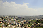 Israel, Jerusalem, a view southwest from the Mount of Olives