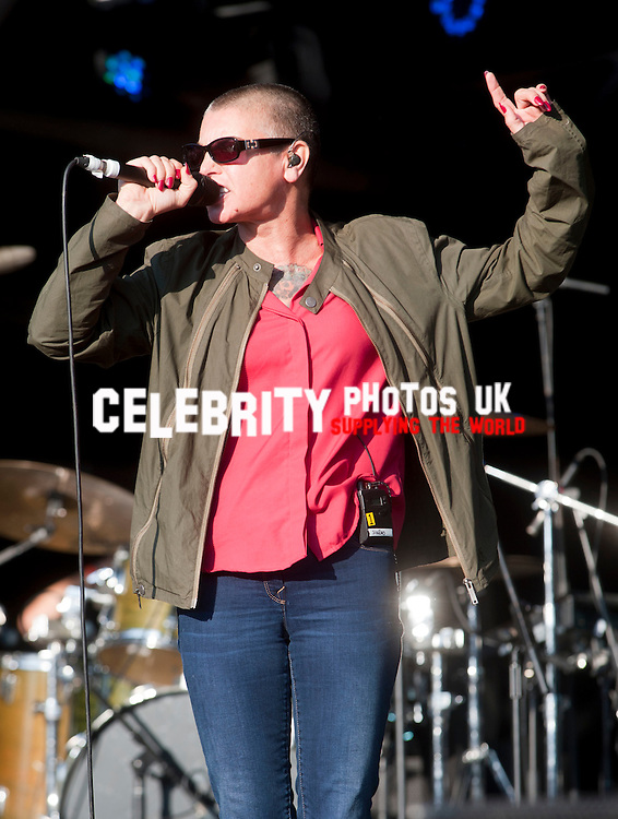 Sinéad O'Connor performing on stage at Camp Bestival, at Lulworth Castle in Dorset, England. 3RD August 2014 Photo by Brian Jordan