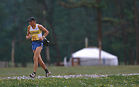 26 JUN 2002 - KHOVSGOL NATIONAL PARK, MON - Robert Alnebring - Mongolia Sunrise to Sunset Ultra Marathon (PHOTO (C) NIGEL FARROW)